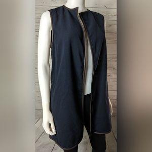 J. McLaughlin Navy Blue Sullivan Vest